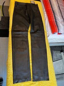 Lederhose Jeans-Button RABERG  GR. 36 ungetragen