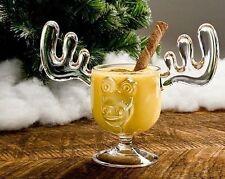 Christmas Eggnog Moose Mug  - Holiday Gift Boxed Safer Than Glass