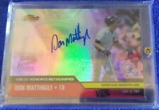 Don Mattingly 2002 Topps Finest Auto on Card autograph Refractor