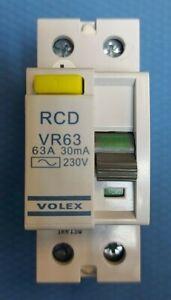 VOLEX VR63 RCD 63AMPS 30MA 230V 63A