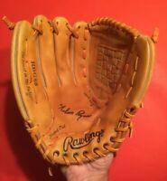 NOLAN RYAN Left Hand thrower Rawlings Baseball Glove Mitt Vtg MLB HOF Angels