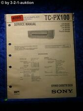Sony Service Manual TC PX100 Cassette Deck (#4095)