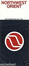 Airline Timetable - Northwest Orient - 05/06/86
