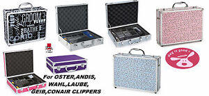 Grooming GROOMER STYLIST ALUMINUM Clipper/Blade/Accessory STORAGE Tote CASE
