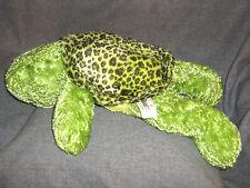 "Bear Factory Plush Turtle 17"" Cuddle Green Yellow Floppy 2001 3+ Back seal"