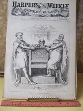 Vintage Print,POWER BEHIND THRONE,Thomas Nast,Harpers,Politics,May 1881