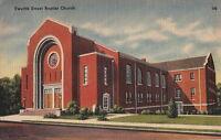 Postcard Twelfth Street Baptist Church Gadsden AL