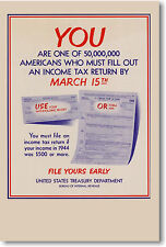 Tax Return by March 15th -  IRS POSTER