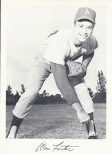 Vintage 1960's Black & White Team Giveaway Photo La Dodgers Baseball Alan Foster