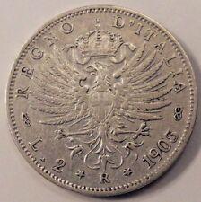 REGNO D' ITALIA  - Vittorio Emanuele III -  2 lire Aquila Sabauda 1905 --