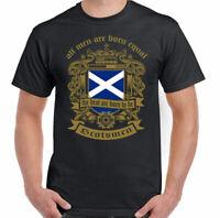 Scottish T-Shirt Men Are Born Equal Mens Flag Scotland Football St Andrews Day