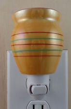 Light Orange Small China Mug W/Striped Pattern Custom Made Night Light NO HANDLE