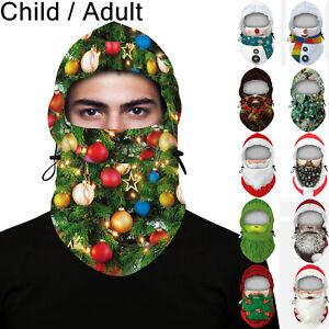 Santa Claus Balaclava Headgear Winter Fleece Face Mask Neck Motorcycle Cycling