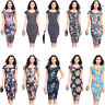 Lady Slim Bodycon Short Sleeve Evening Sexy Party Cocktail Pencil Dress Business