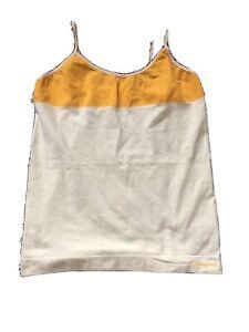 Womens Patagonia Capilene Yellow Spaghetti Strap Shirt Size Medium USA Made