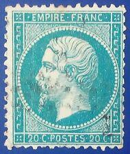 Sello de Francia. Empire Franc. 20 centimes. 1862.Napoleon III.