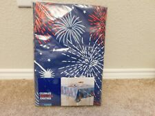New Celebrate Americana Together Fireworks 70 in. Round Tablecloth