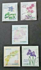 JAPAN USED 2016 SPRING FLOWERS 52 YEN 5 VALUE VF COMPLETE SET SC# 3981 a - e