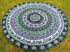 Bohemian Hippie Mandala Round Roundie Beach Throw Tapestry TableCloth Yoga Mat