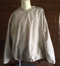 Mens Burry Lane XL Tan Pullover Windbreaker Golf Jacket