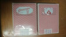 2 Decks STRATOSPHERE & SAHARA Casino SEALED Playing Cards BEE ~Vintage VEGAS