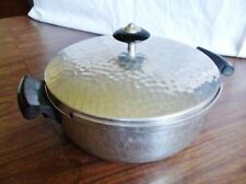 Nice Vintage Hammered Aluminum Pan with Lid, Made in Spain, Mmm
