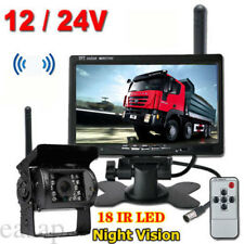 7In HD LCD Monitor Wireless Backup Rear View Camera Parking For Truck Trailer RV