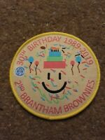 Girl Guiding Badges, Brantham Brownies 30th Birthday, Charity Fundraising Badge.