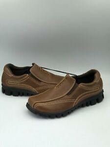 Arizona Randall Snea Kids Boy's Brown Slip On Flat Shoes Size 3 Medium