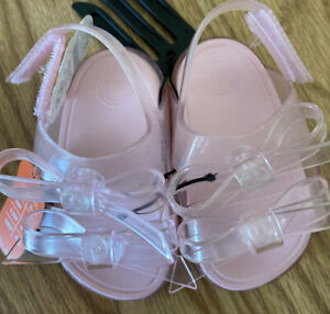 Wonder Nation Baby Girl Jelly Sandal. Size 2