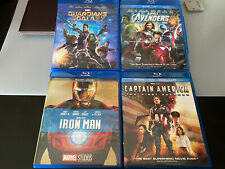 Marvel Avengers Blu Ray Lot Captian America Iron Man Guardians