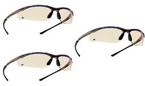 Bolle Contour CONTESP Safety Glasses Clear + Microfibre bag blue filter lens X 3