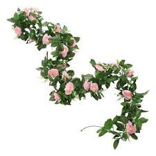 1/2/4 pcs 8Ft Artificial Rose Garland Silk Flower Vine Ivy Wedding Garden String