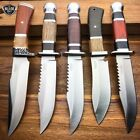 """10"""" Outdoor Survival Camping Fixed Blade Hunting Knife Bowie Rambo w/ Sheath"""