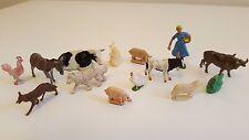 Lot figurines d'animaux et fermière anciens Corgi, Britains,.....