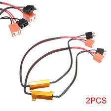 2pcs Car H7 Set LED DRL Fog Light Load Resistor Canceller Decoder 50W 6Ohm