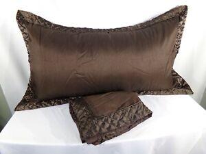 """Stunning Luxury Designer Tuscan Taupe Satin  EURO Pillow Sham 28/"""" SQ"""