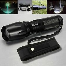8000LM Zoomable Focus XML T6 LED Flashlight 26650 /18650 /AAA Torch with Holster
