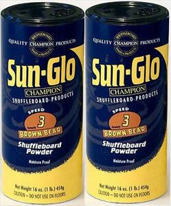 Sun Glo Shuffleboard  powder / wax - 3 speed -2 pack