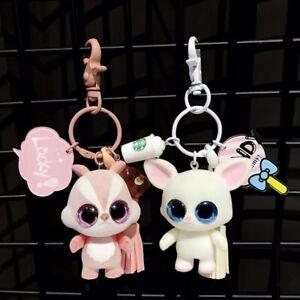 Fashion Cute Cartoon Movable Keyring Key Chain Pendant Holder Hook Accessory