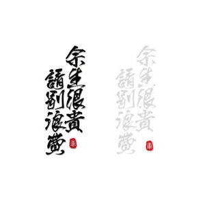 Cherish the Rest of Your Life Car Sticker Vinyl Chinese Slogan Windshield Decal