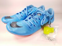 Nike Size 12 Zoom JA Fly 3 Track Spikes Football Blue Crimson 865633-446 Mens
