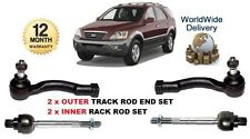 FOR KIA SORENTO 2003-> NEW 2x OUTER & 2x INNER LEFT & RIGHT TRACK TIE ROD ENDS