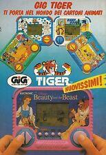 X4042 GIG Tiger ti porta nel mondo dei cartoni animati - Pubblicità 1992 - Adv.