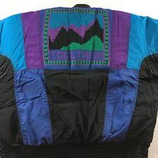 Vintage Together Womens Ski Jacket Size Large 12-14 80% Down Fill Coat Colorful