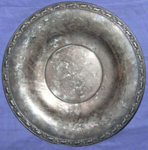 Vintage Oneida Silversmiths silver plated serving plate tray