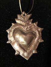 Mexican Folk Heart  Style Milagro Christmas ornament