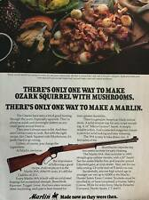 Marlin 39A Rifle Vintage 1979 Print Ad with Ozark Squirrel Recipe Mancave Decor