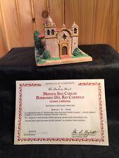 Danbury Mint Historic American Churches Mission San Carlos Carmel C A w/box & C