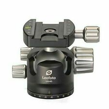 No Box LEOFOTO LH-40 Ball Head 40mm Low Profile Arca / RRS Compatible w Pan Lock